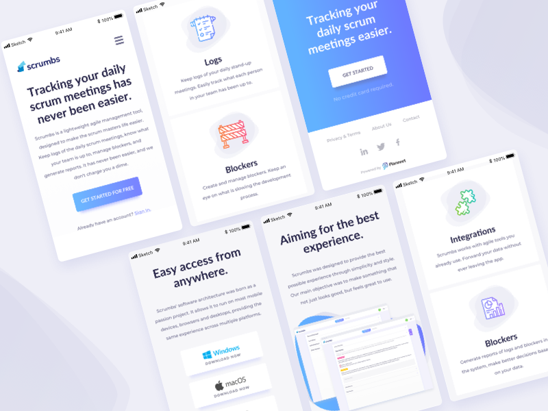 Landing Page Ui Design Mobile By Ildiko Gaspar For Ildiesign On Dribbble