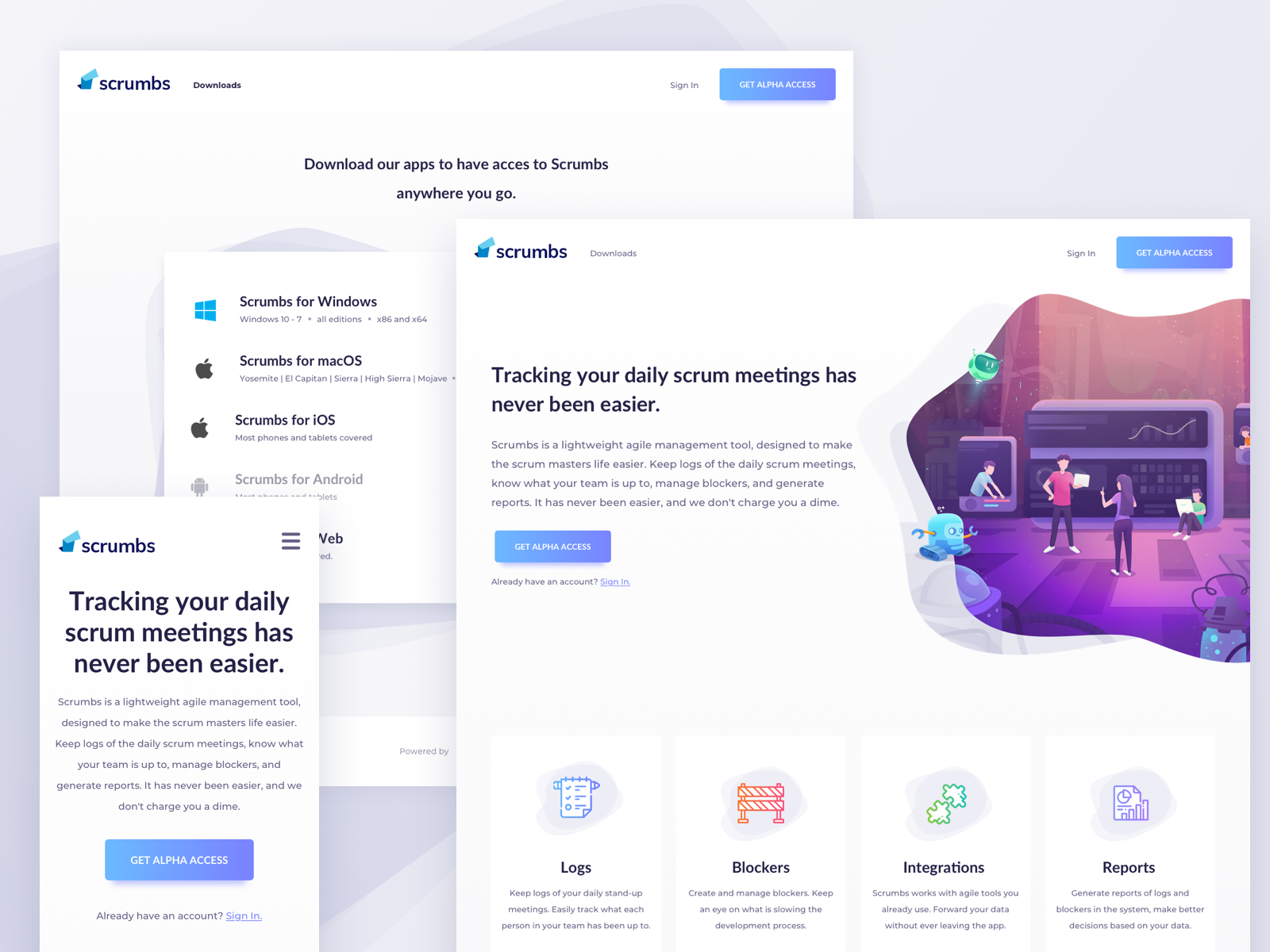 Day 625 scrumbs landing page