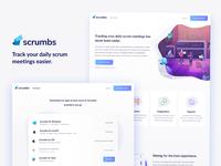 Scrumbs Landing Page design