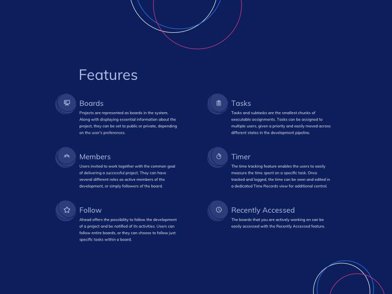 Features List UI Design by Ildiko Gaspar on Dribbble