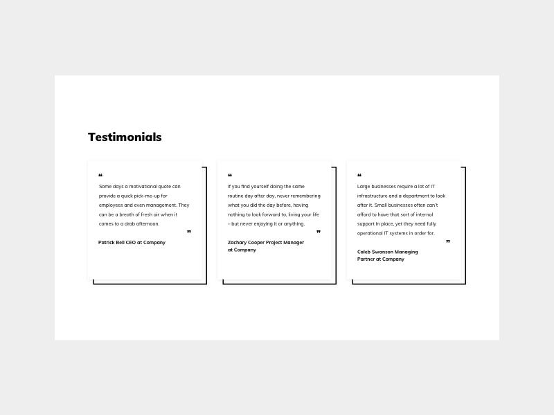 Testimonials UI Design testimonials design testimonials ui practice daily ui dailyui ui pattern ildiko ignacz ux design ui design ildiesign ux ui
