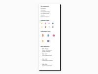 Competences List UI Design