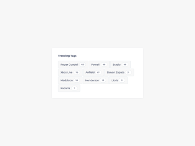 Tag Cloud UI Design