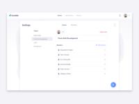 Scrumbs Teams Settings UI Design