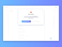 Delete Member UI Design