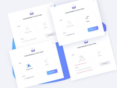 Invite Member UI Design