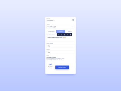 Content Settings UI Design