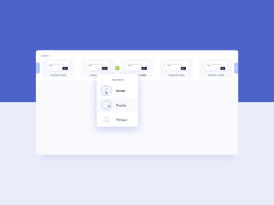 Add New Guide UI Design