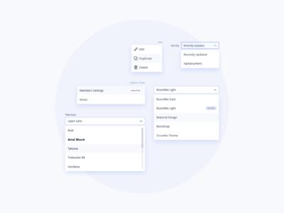 Dropdown Set UI Design