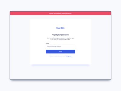 Forgot Password UI Design