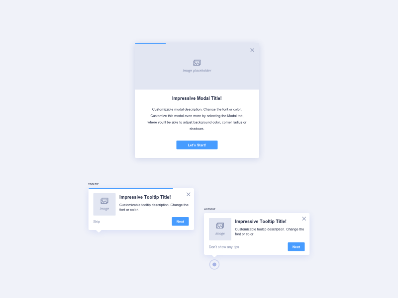 Boardme Light Themed Guide Types UI Design boardme guide types tooltip ui tooltip ui kit management ui practice daily ui dailyui ui pattern ildiko ignacz ux design ui design ildiesign ux ui