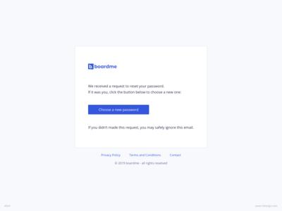 Password Request Email UI Design | boardme