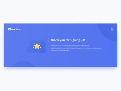 Subscribe Confirmation UI Design