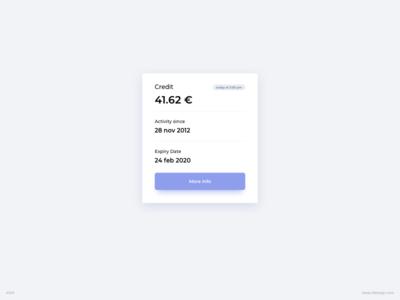 Details Card UI Design
