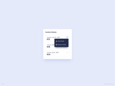 Invoice History UI Design