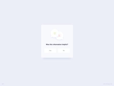 Feedback Request UI Design