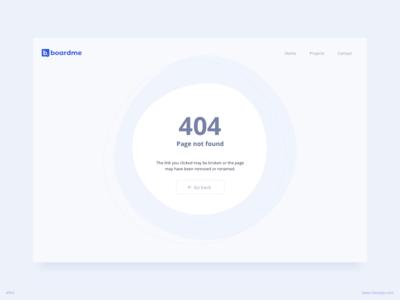 404 Error Page UI Design |  Revised