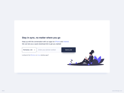 Stay In Sync UI Design
