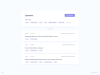 Questions List UI Design