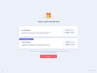 Gift Membership UI Design