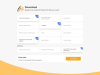 Download Sections UI Design