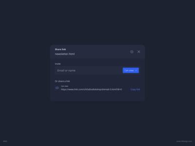 Share Link UI Design