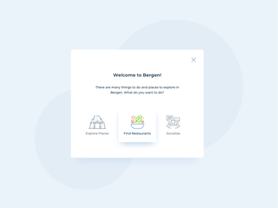 Welcome Card UI Design