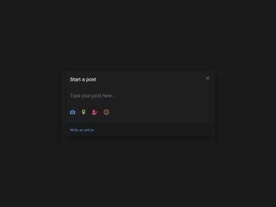 Write Post UI Design