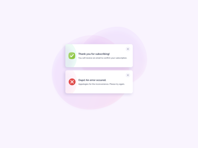 Subscribe Notifications UI Design