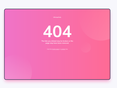 404 Page UI Design