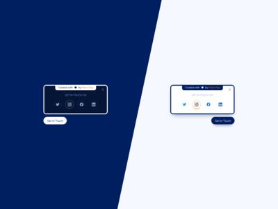 Social Contact Panel UI Design