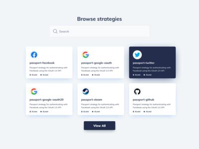 Browse Page UI Design