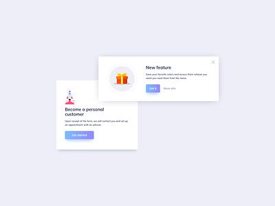Crads UI Design feature new feature notification card notification info card cards design cards ui cards