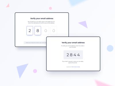 Verify Email Address UI Design