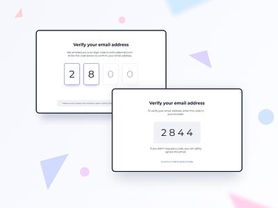 Verify Email Address UI Design ildiko gaspar daily ui dailyui ui pattern ux design ui design ildiesign ux ui verify email verification verification code verify