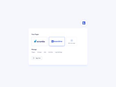 Account Dropdown UI Design