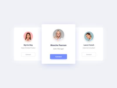 User Cards UI Design