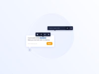 Inline Editor Toolbar UI Design