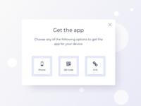 Get The App Pop Up UI Design