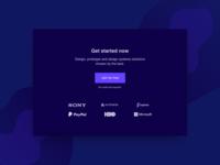 Get Started Section UI Design