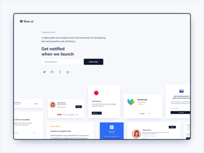 Coming Soon Page UI Design