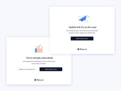Subscribe Feedbacks UI Design