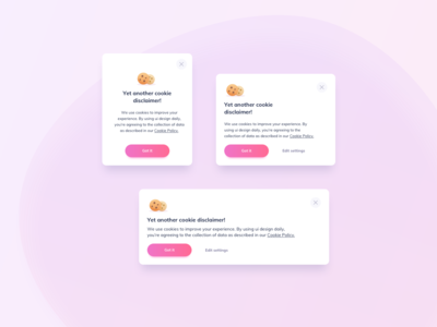 Cookies Banner UI Design