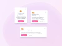 Cookies Banner UI Design