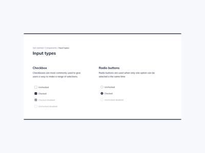 Input Types UI Design