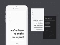 Jakt Branding - Mobile Website & Business Cards