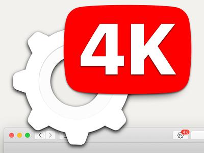 4Ktube App Icon youtube logo macos icon sketch vector apple mac app