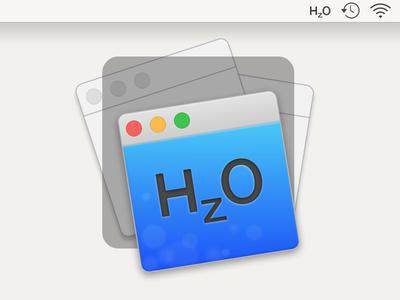 HzO Icon for Mac App osx hazeover debut apple yosemite sketch vector app mac icon