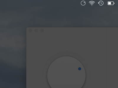 Dark Mode Status Icon demo gesture app apple mac control dimmer osx sketch vector ui ux