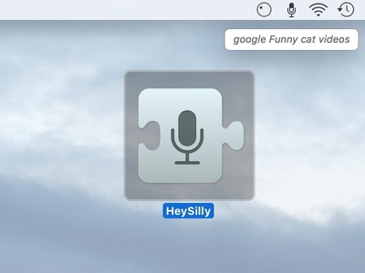 """""""Hey Silly"""": Custom Voice Commands Icon prototype vector sketch osx mac apple app icon"""
